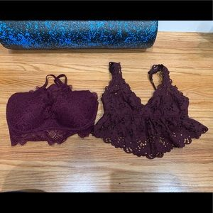 """Babe in Burgundy"" Bra Bundle by Aerie and VS!"